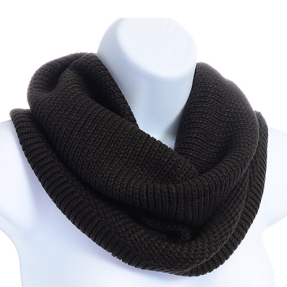 3ddac70a639 Dark Black Gray Ribbed Tube Scarf